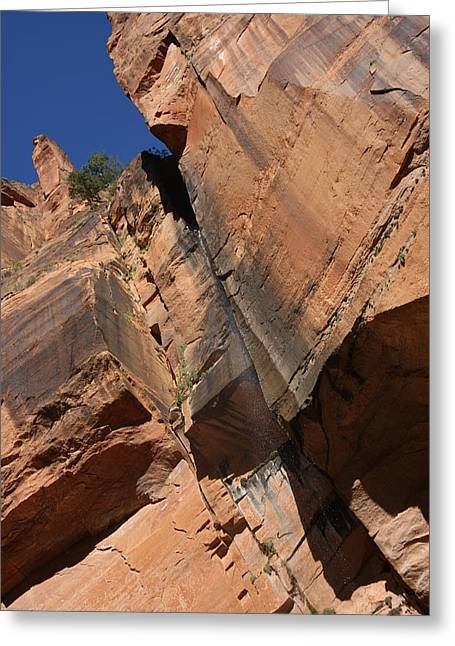 Greeting Card featuring the photograph Canyon Walls by Marta Alfred