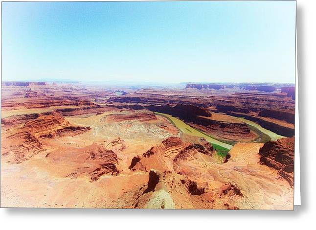 Canyonlands And Colorado River Greeting Card by C Thomas Willard
