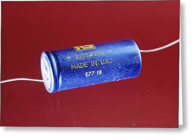 Capacitor Greeting Card by Andrew Lambert Photography