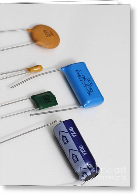 Capacitors Greeting Card by Photo Researchers, Inc.