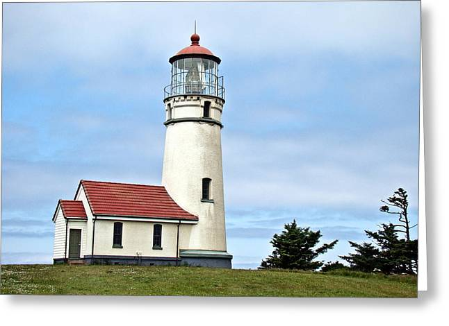 Cape Blanco Lighthouse Greeting Card by Nick Kloepping