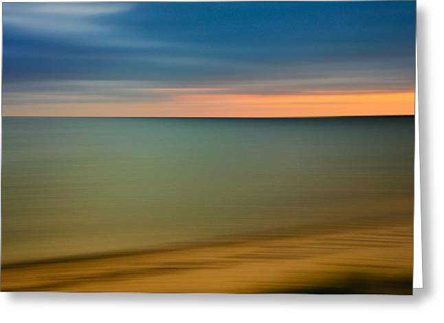 Cape Cod Sunset- Abstract  Greeting Card by Expressive Landscapes Fine Art Photography by Thom