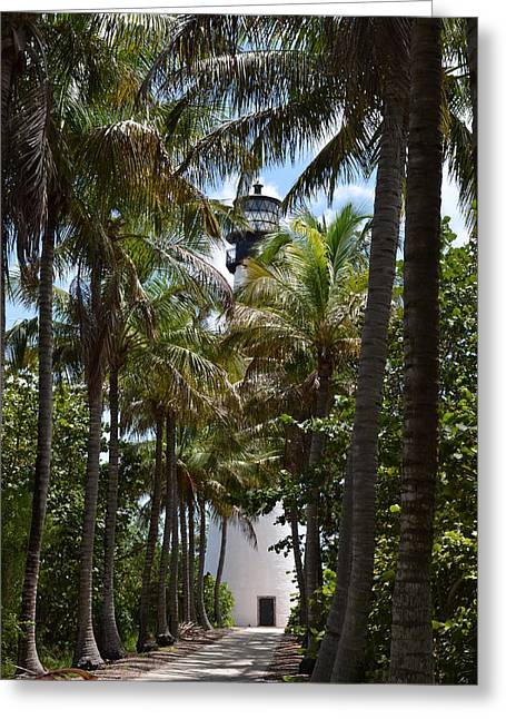 Cape Florida Lighthouse Greeting Card by Brenda Thimlar