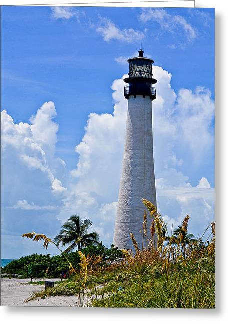 Cape Florida Lighthouse Greeting Card by Julio n Brenda JnB