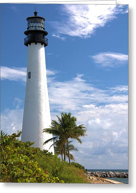 Cape Florida Lighthouse Greeting Card by Rudy Umans