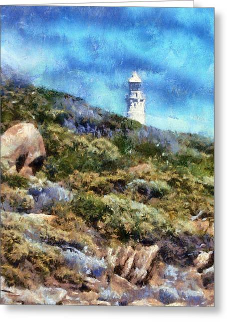 Greeting Card featuring the digital art Cape Leeuwin by Roberto Gagliardi