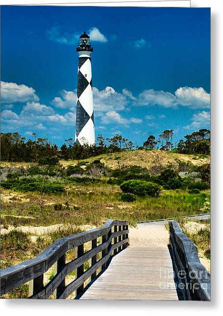 Cape Lookout Light Greeting Card