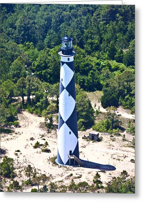 Cape Lookout Lighthouse Greeting Card by Betsy Knapp