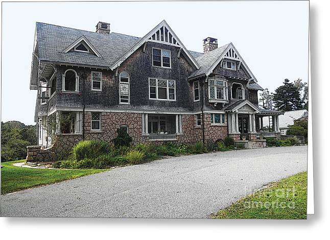 Cape Mansion Greeting Card by David Klaboe