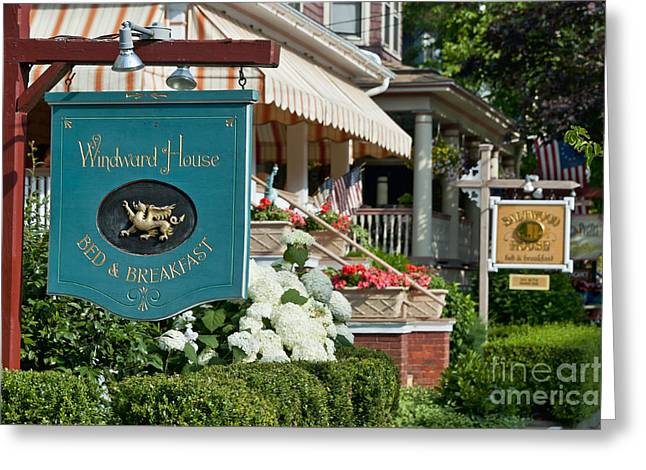 Cape May Bed And Breakfast Greeting Card by John Greim