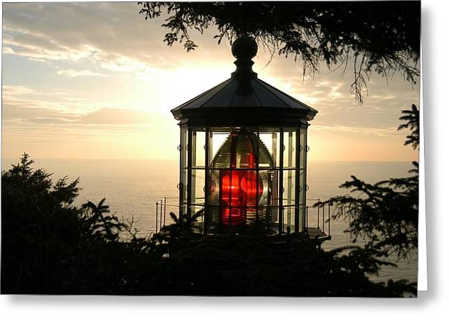 Cape Meares At Sunset Greeting Card
