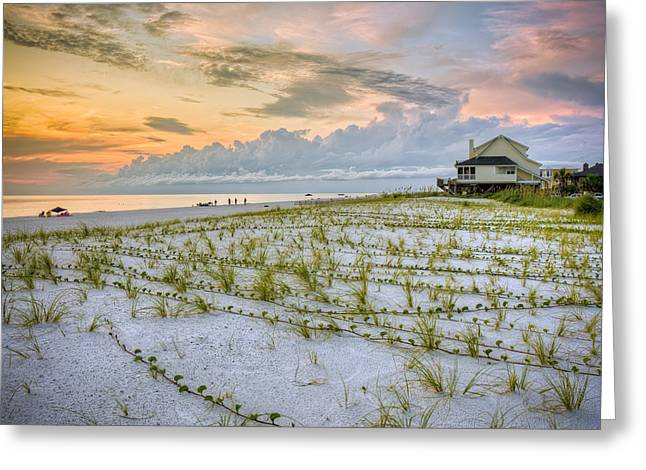 Cape San Blas Sunset Greeting Card by Ray Devlin