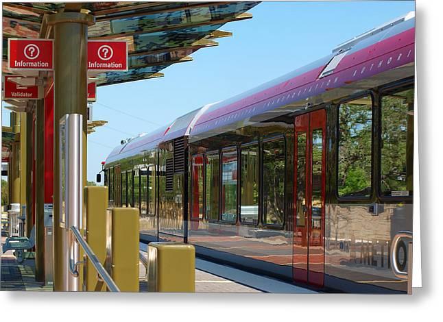 Capital Metro Rail Austin Texas Greeting Card by James Granberry