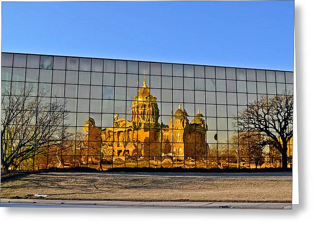 Capital Reflections Greeting Card by Brenda Becker