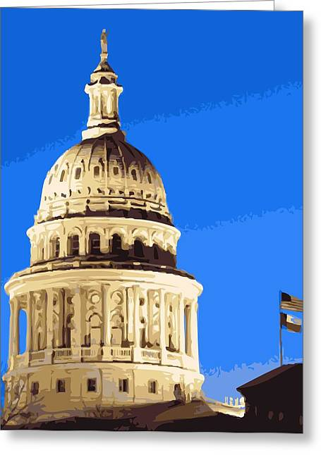 Capitol Dome Color 16 Greeting Card by Scott Kelley