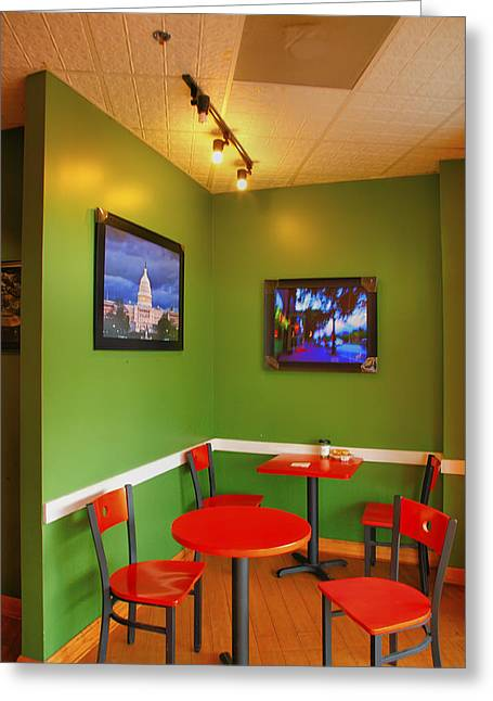 Capitol Hill Cafe Greeting Card by Steven Ainsworth