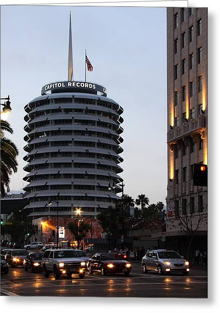 Capitol Records Greeting Card by Viktor Savchenko