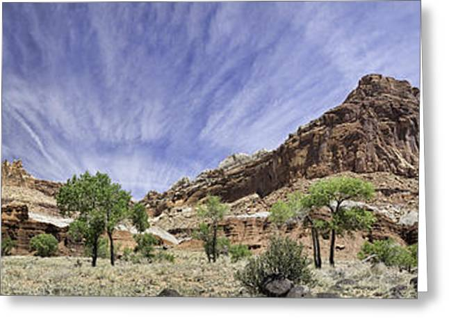 Greeting Card featuring the photograph Capitol Reef Cloud Show by Gregory Scott