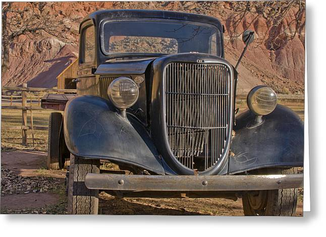 Capitol Reef Truck Greeting Card