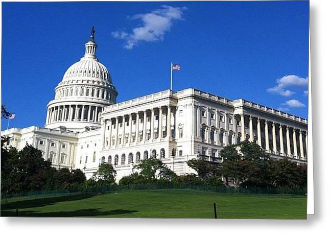 #capitolhill #washingtondc #washington Greeting Card