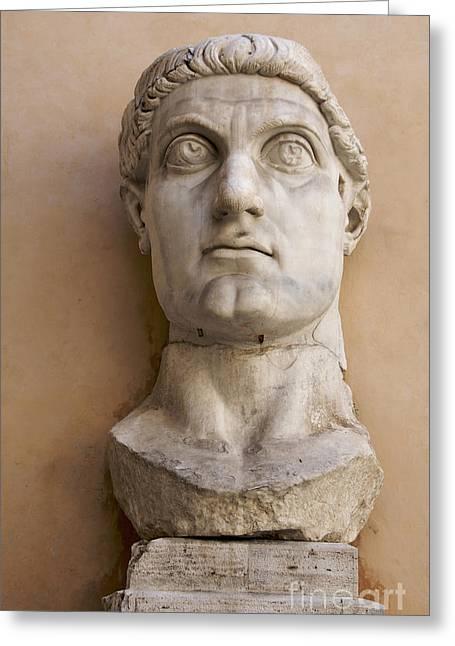 Capitoline Museums Palazzo Dei Conservatori- Head Of Emperor Con Greeting Card