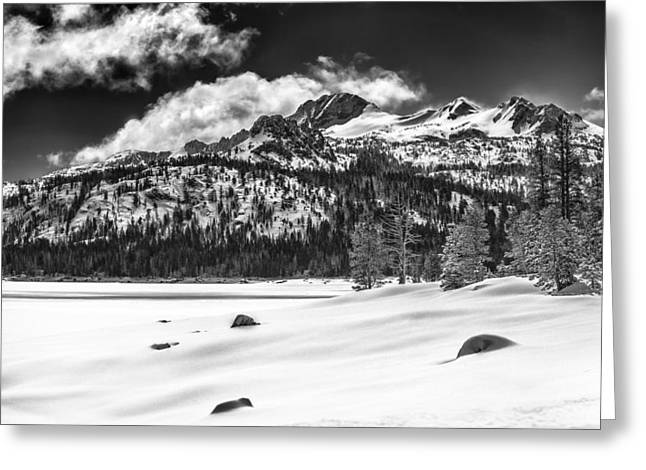Caples Lake Greeting Card by A A