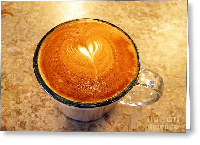 Cappuccino Everyone Wants Greeting Card by Ausra Huntington nee Paulauskaite