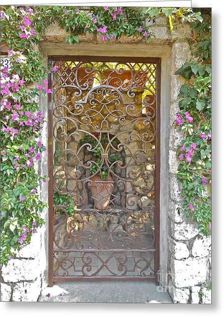 Capri-timeless Gate Greeting Card