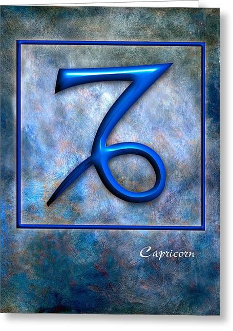 Capricorn  Greeting Card by Mauro Celotti