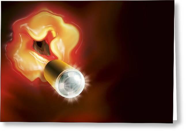 Capsule Endoscopes, Conceptual Image Greeting Card