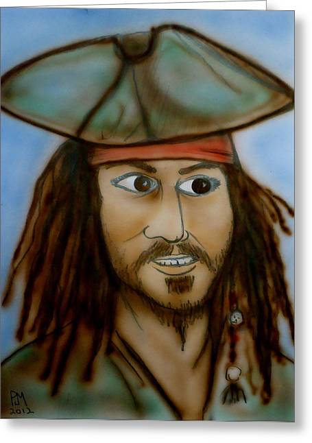 Capt. Jack Greeting Card by Pete Maier