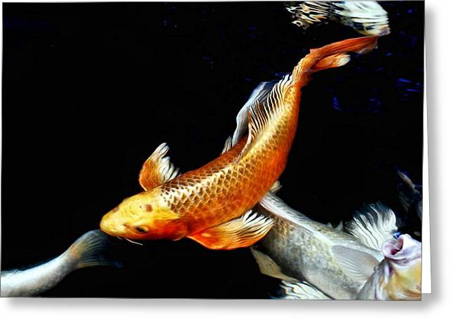 Captain Koi Greeting Card by Don Mann