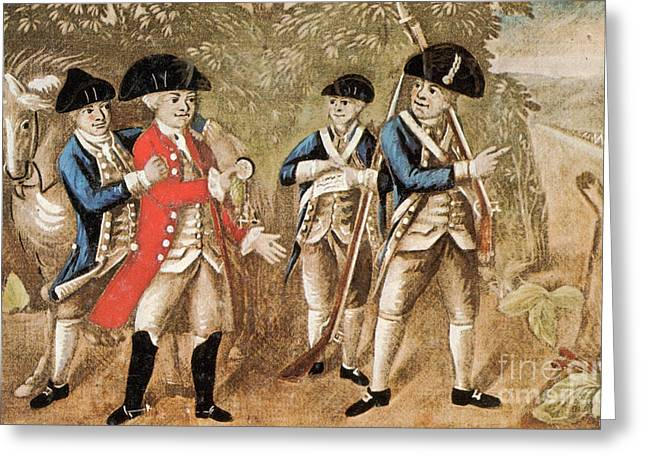 Capture Of Major Andre, 1780 Greeting Card by Photo Researchers