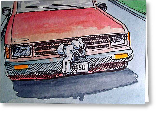 Got Milk Car Hood Sketchbook Project Down My Street Greeting Card