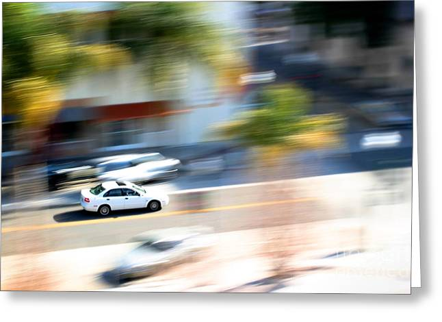 Car In Motion Greeting Card