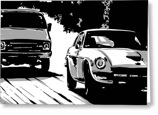 Car Passing Nr 2 Greeting Card by Giuseppe Cristiano