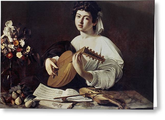 Caravaggio: Luteplayer Greeting Card by Granger