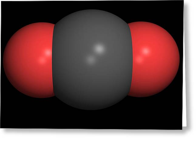Carbon Dioxide Molecule Greeting Card by Friedrich Saurer