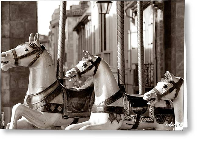 Carcassone Ride Greeting Card by Robert Lacy