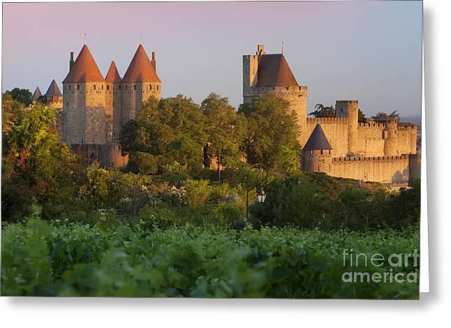 Carcassonne Dawn Greeting Card by Brian Jannsen