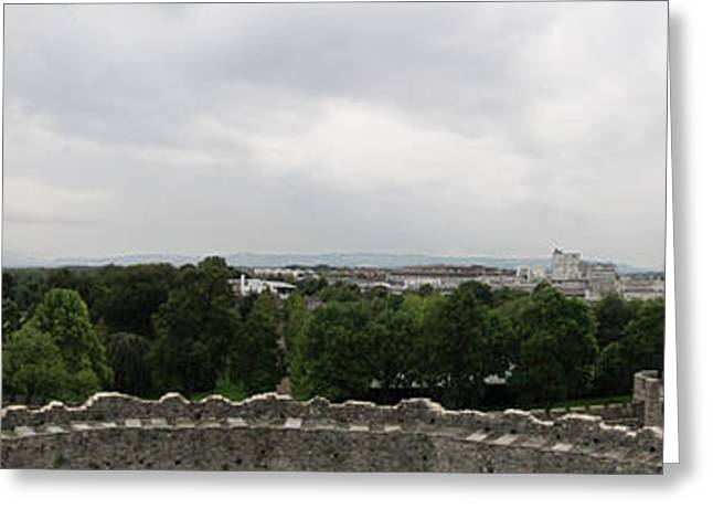 Cardiff Castle Panorama Greeting Card