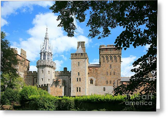 Cardiff Castle Greeting Card by Susan Wall