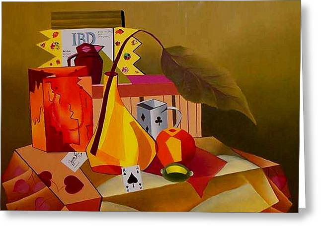 Cards On The Table Greeting Card by Karin Eisermann