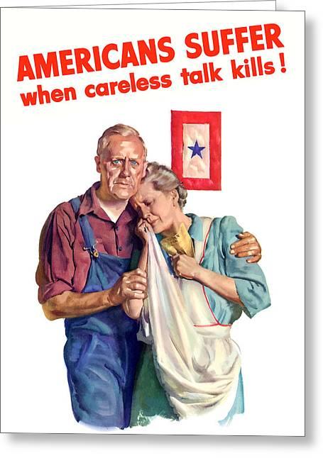 Careless Talk Kills -- Ww2 Propaganda Greeting Card by War Is Hell Store