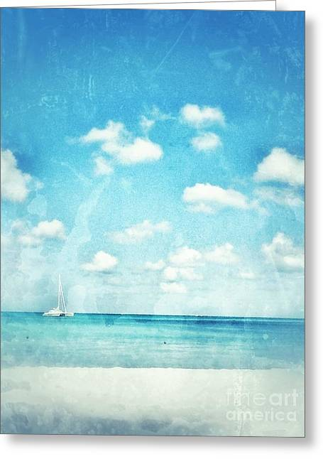 Caribbean Beach Greeting Card