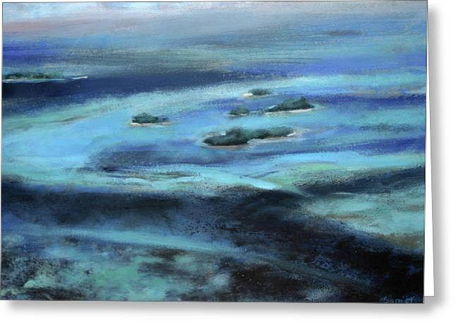 Caribbean Blue Greeting Card by Tom Smith