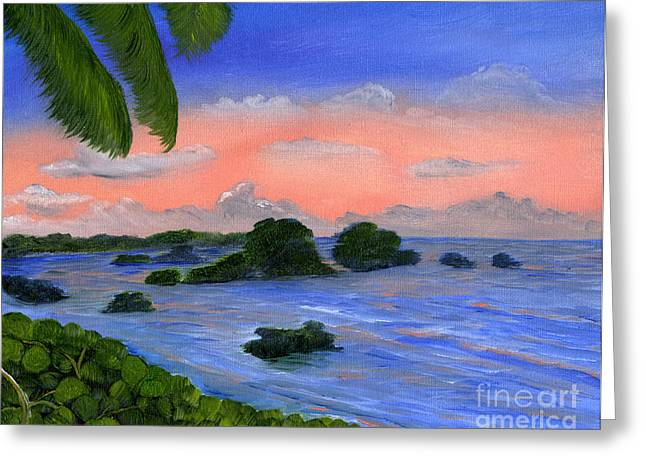 Caribbean Sky Greeting Card by Maria Williams