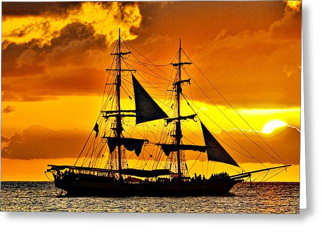 Caribbean Sunset Greeting Card by J R Baldini M Photog Cr