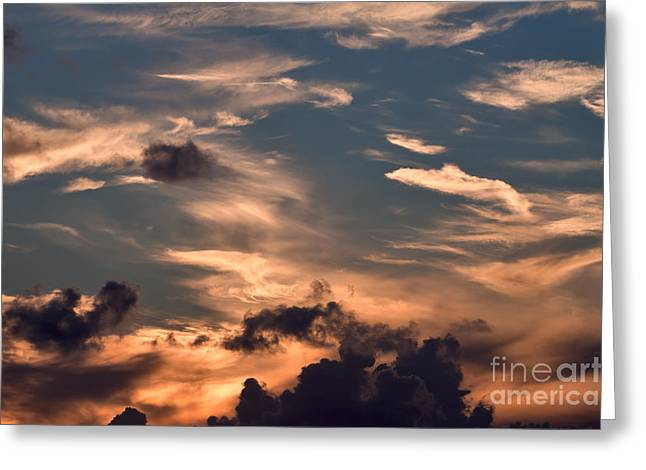 Caribbean Sunset Near Norman Island Greeting Card by Louise Heusinkveld