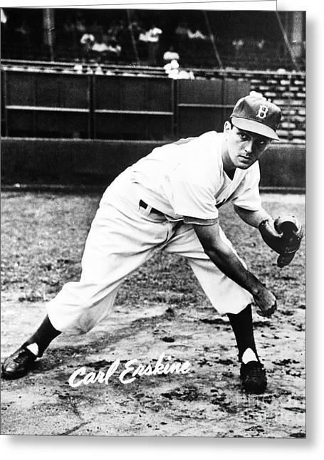 Carl Erskine (1926- ) Greeting Card by Granger